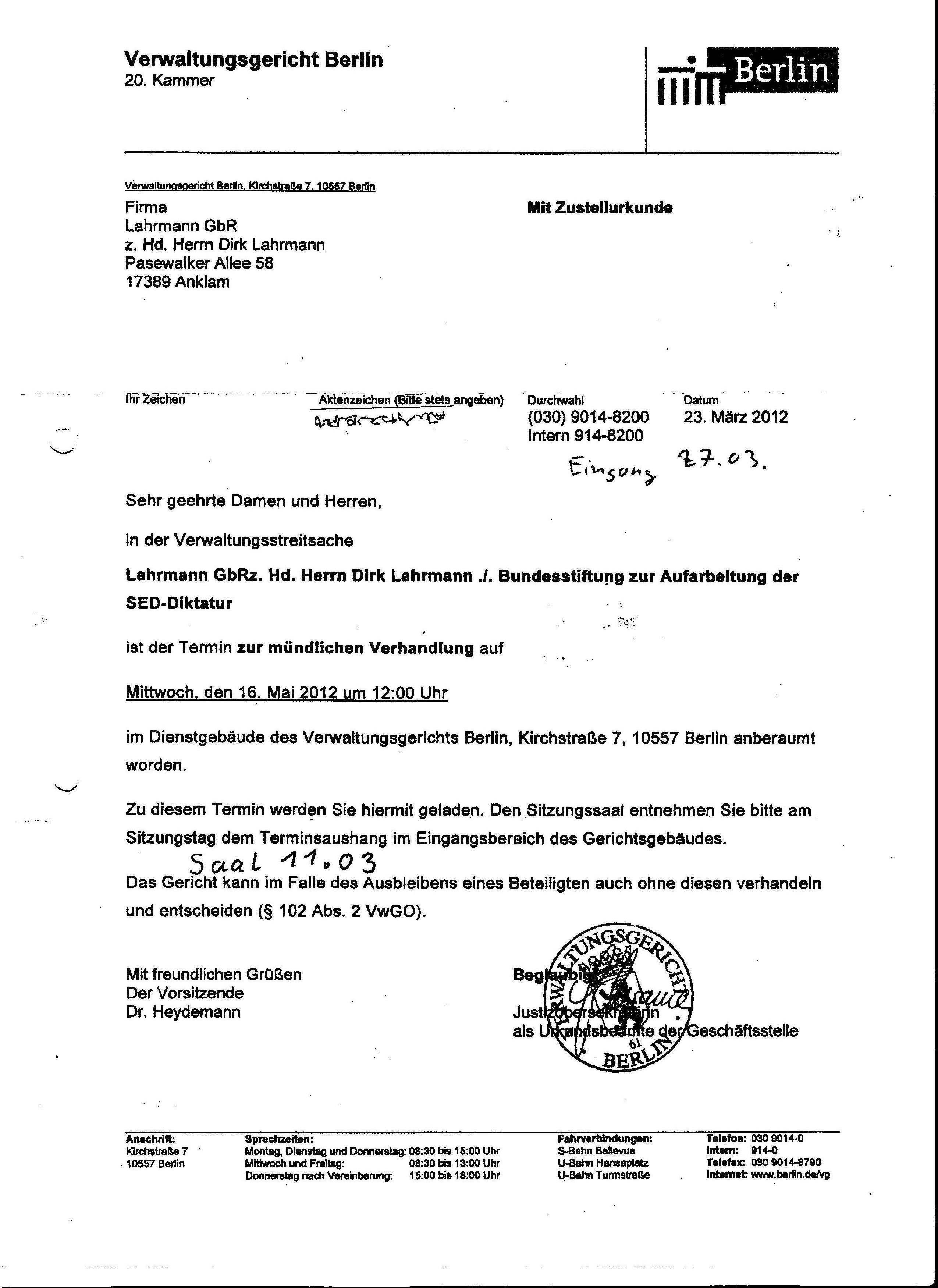 Klage Verwaltungsgericht Ohne Anwalt