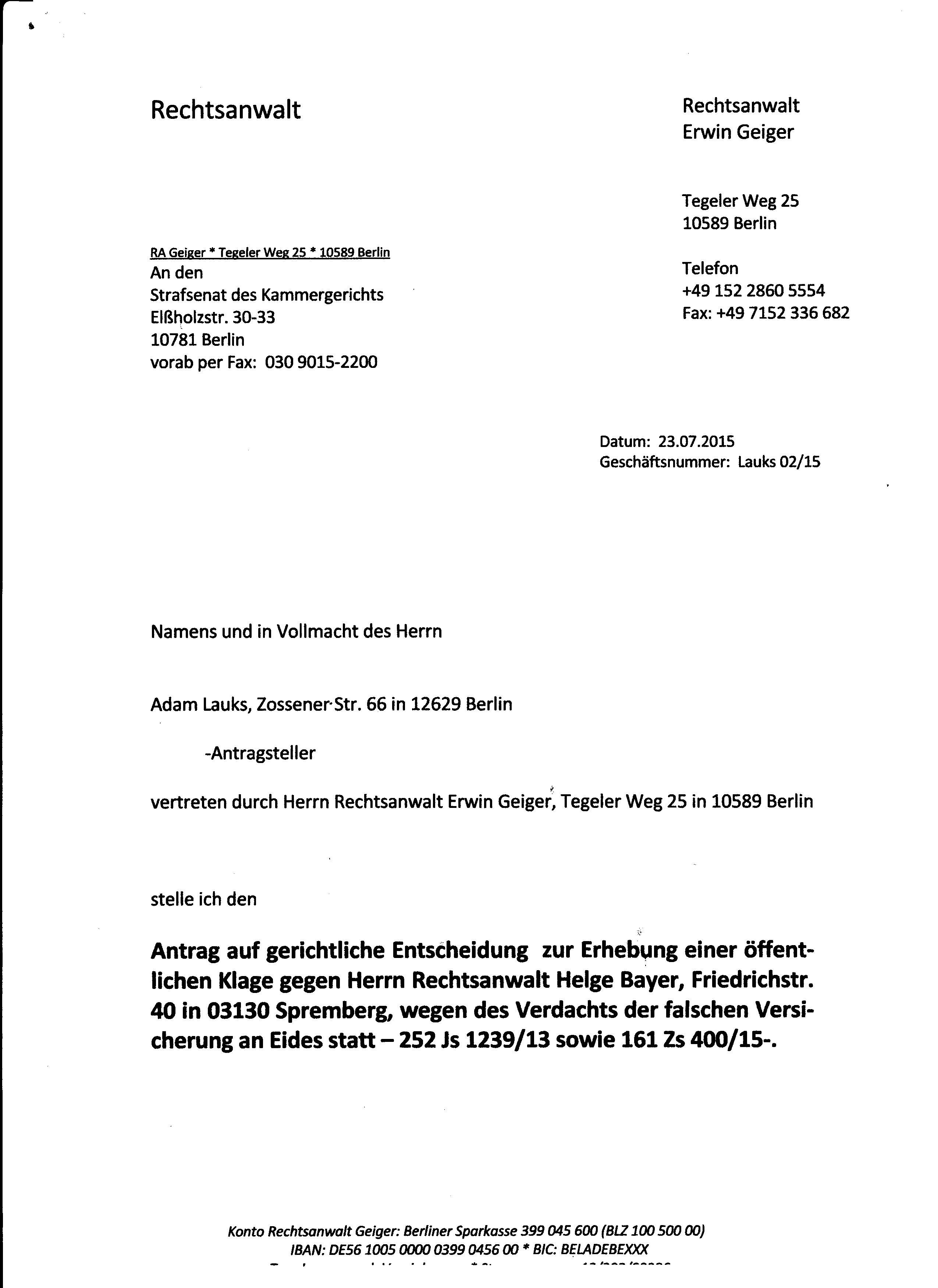 Antrag Auf Gerichtliche Entscheidung 109 Ff Springerlink 11